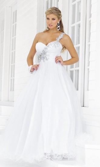 dress white white dress prom dress silver strap embellished strap prom sweetheart dress