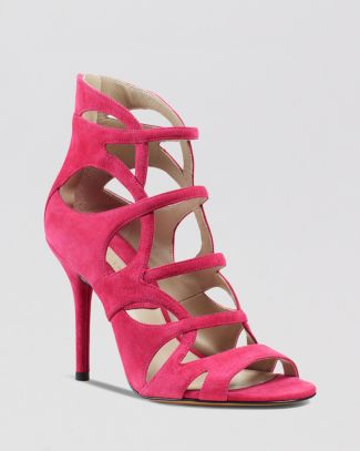 Michael Kors Caged Sandals - Casey Strappy High Heel | Bloomingdale's