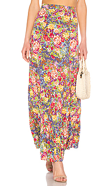 AUGUSTE Magnolia Violet Maxi Skirt in Purple from Revolve.com