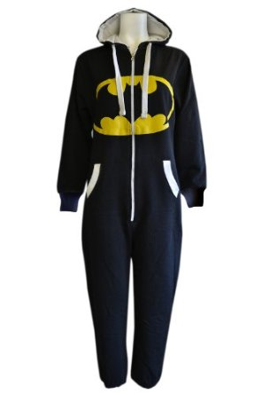 Mens Unisex Womens Adult Camouflage Batman/ Superman Print Hoody Onesie Jumpsuits All In Size S M L XL XXL: Amazon.co.uk: Clothing