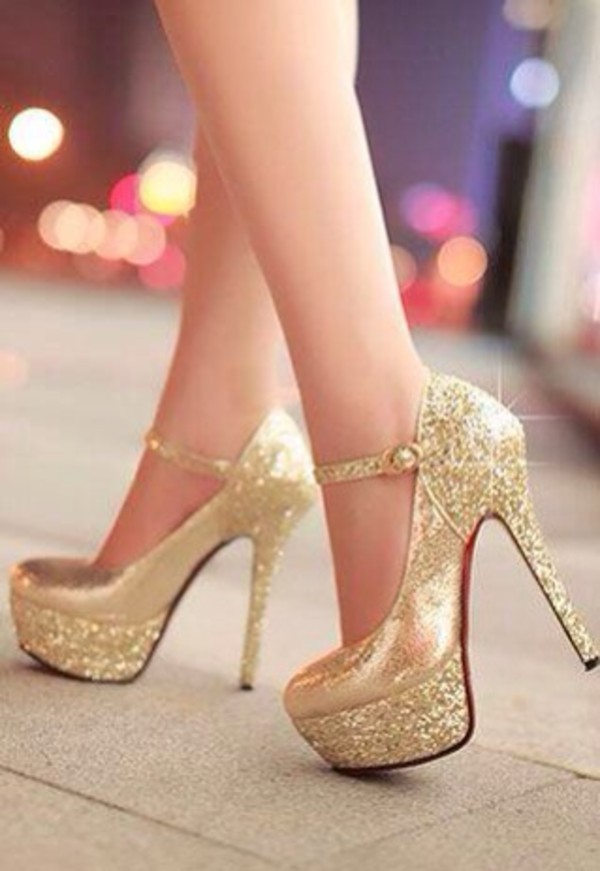 shoes gold crystal pumps heels hight heels red sole shiny sparkle party shoes sparkle glitter shoes red bottoms mary jane platform shoes gold heels quincea?era high heels glitter white gold platform pumps high heel pumps