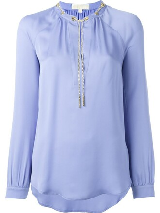 blouse blue top