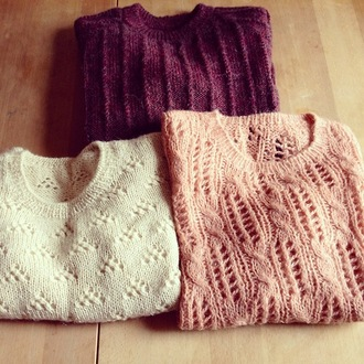 sweater knitted sweater white pink purple winter sweater winter outfits fall sweater jullnard choies