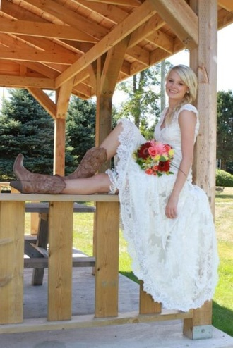 dress lace wedding white country wedding