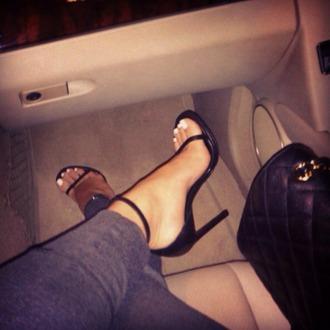 shoes heels black heels black sandals sandals stilettos black strappy heels