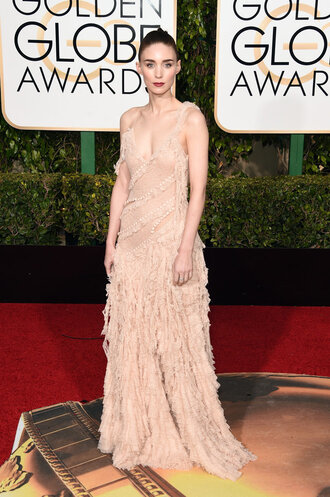 dress nude nude dress gown red carpet dress rooney mara