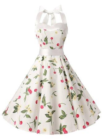 dress vintage dress rockabilly dresses 50s dresses retro dresses floral dress halter dress vintage style dresses