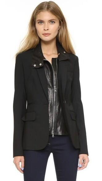 jacket classic leather black