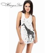 dress,giraffe tank,ladies nike pro shorts,summer,boutique envy,punk
