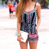 blouse,clothes,combishort,black,pink,green,noire,rose,verte,summer,été,shorts,romper