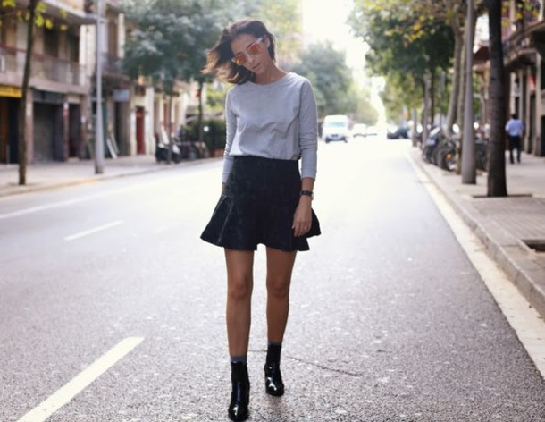 style in lima sweater skirt shoes sunglasses
