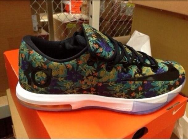 94b8af4ad187 shoes floral kevindurant kds sneakers nike floral nike kd nike sneakers  nike kd iv