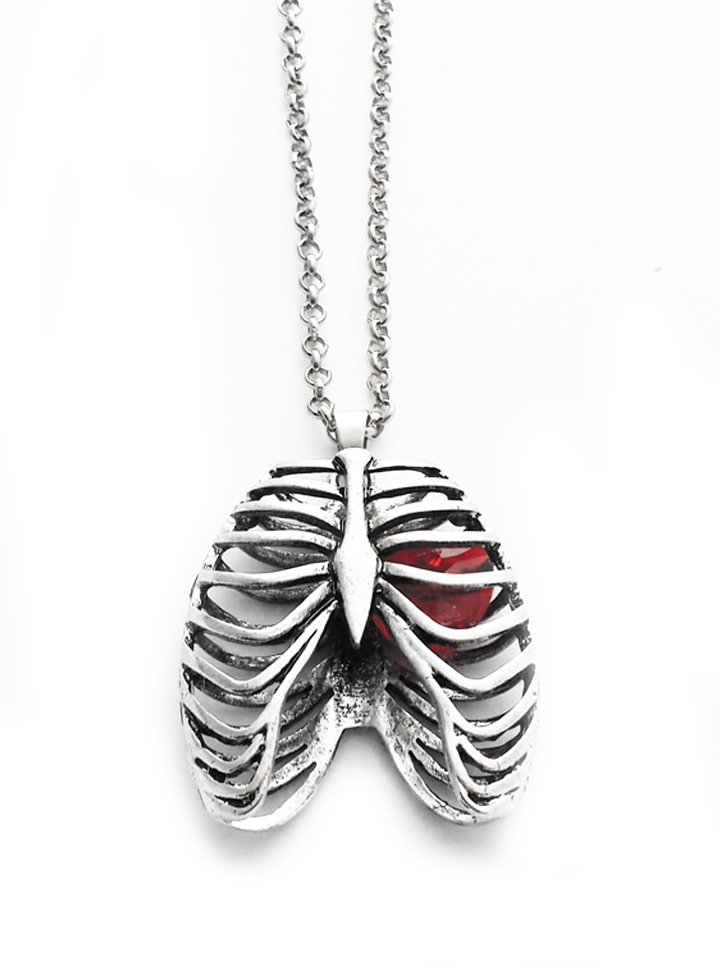 Ribcage necklace by queen of jackals (stainless steel)