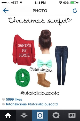 cute outfit christmas sweater casual