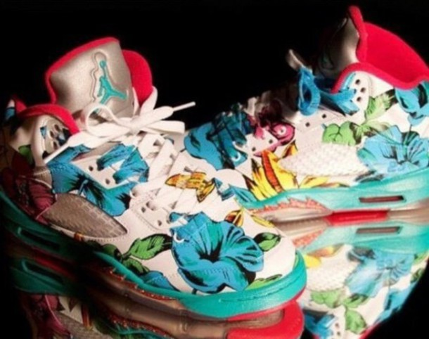 shoes tropical jordans