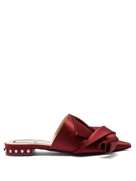 shoes satin burgundy