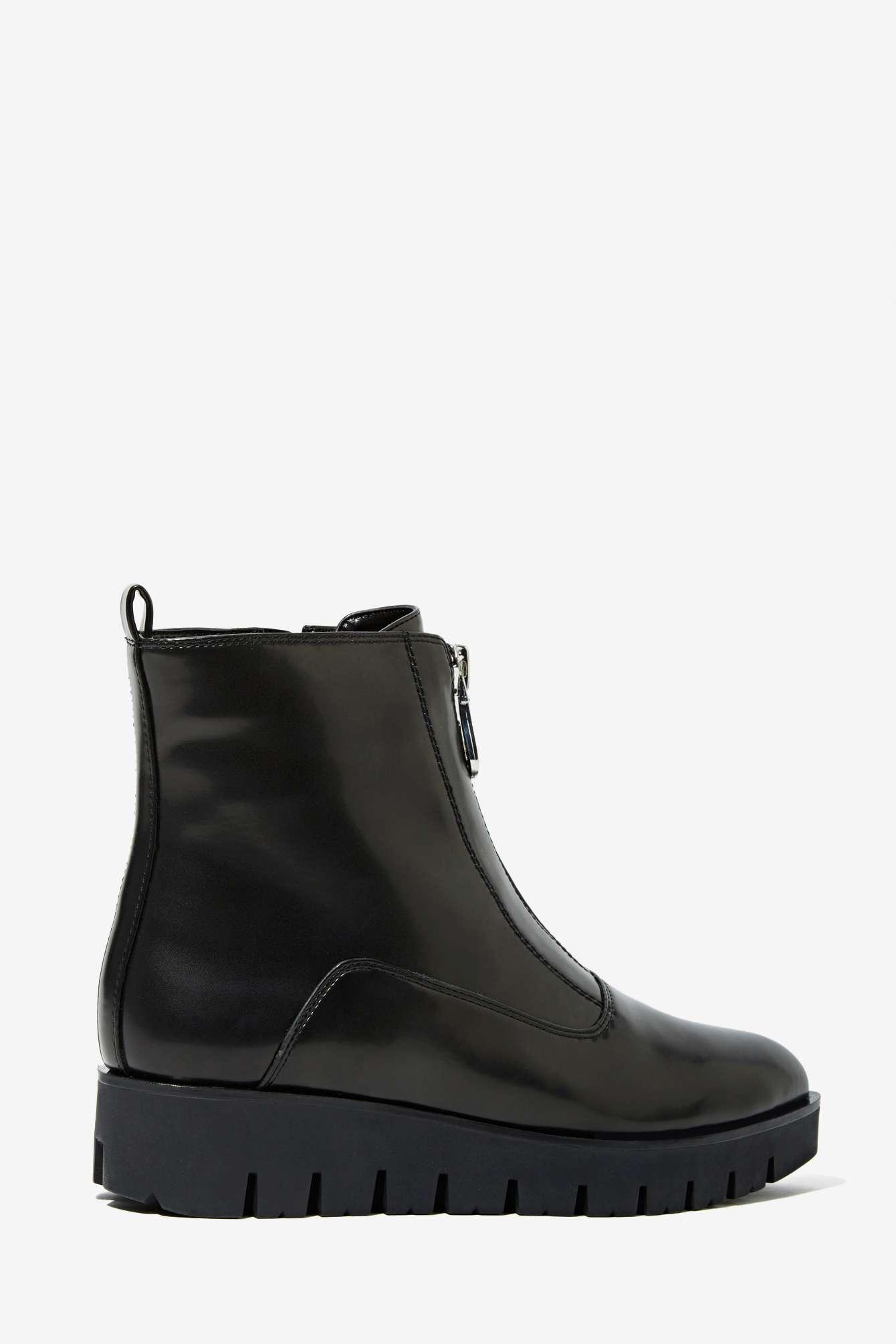 Sixty seven tabitha box leather zip boot