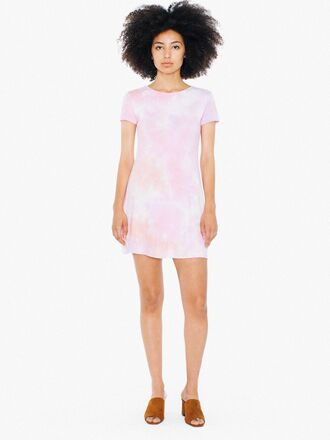 dress t-shirt dress tie dye american apparel casual dress