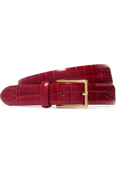 ANDERSON'S belt leather red