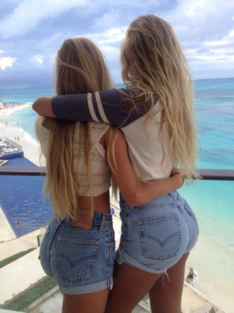 shorts high waisted shorts blue tank top shirt