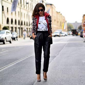 t-shirt white t-shirt jacket pants black pants shoes black shoes