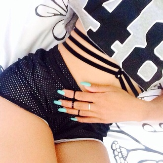 basketball shorts basketball straps everything sick tshirt love love love shorts pants net top jewels blouse black and grey jewelry black cropped sweater jersey dope wishlist underwear mesh black and white crop tops bralette strappy
