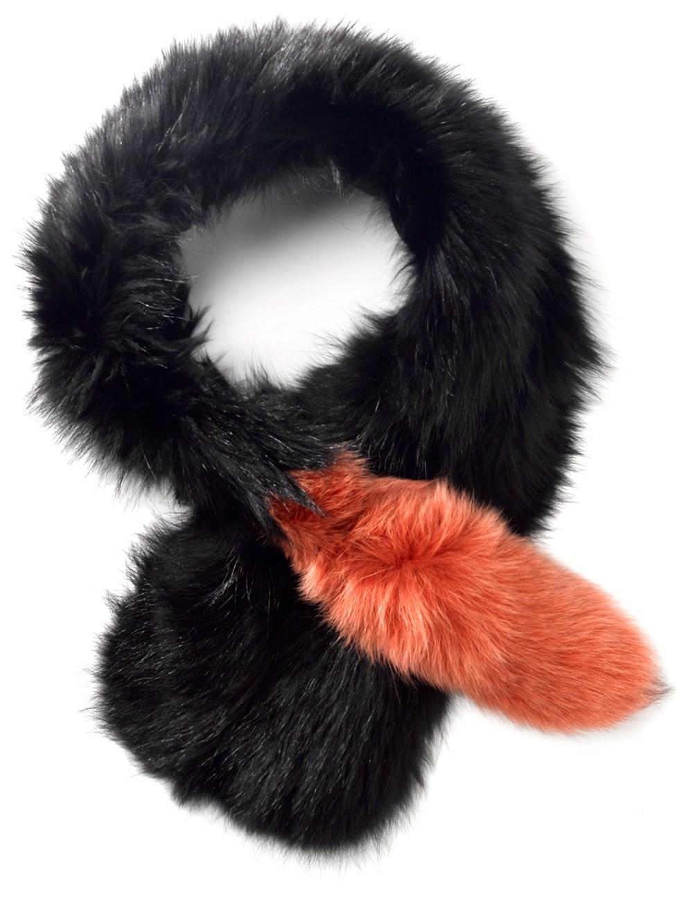 Orange fur popsicle stole