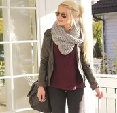 jacket,love,clothes,fashion,scarf,erica mohn kvam,sweater,blonde hair,nice,outfit