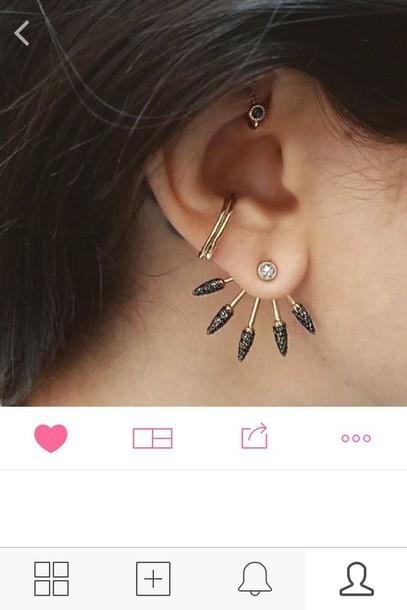 jewels ear cuff statement earrings jewelry earrings ear jackets ear piercings earrings trendy