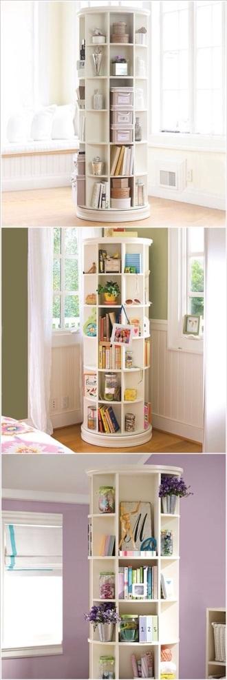home accessory rotating rotating shelf cool teen organisation bookshelf home decor