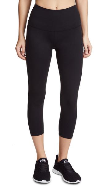 Beyond Yoga Core High Waisted Capri Leggings in black