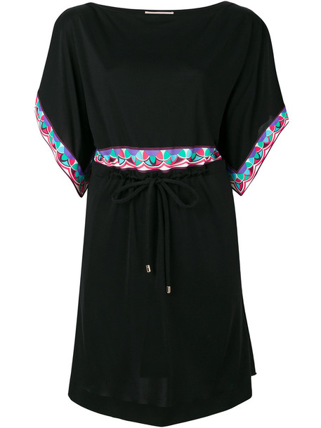 Emilio Pucci dress shift dress women black silk