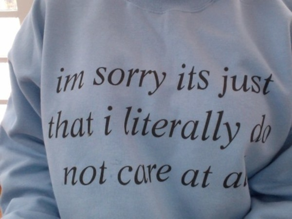 sweater sweatshirt tumblr im sorry its just that i literally do not care at all don't care sweater quote on it zazzle