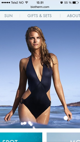 swimwear biotherm blue one piece one piece swimsuit dark blue navy