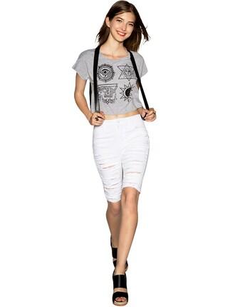 white shorts pixie market pixie market girl ripped shorts bike shorts distressed denim shorts affordable clothing