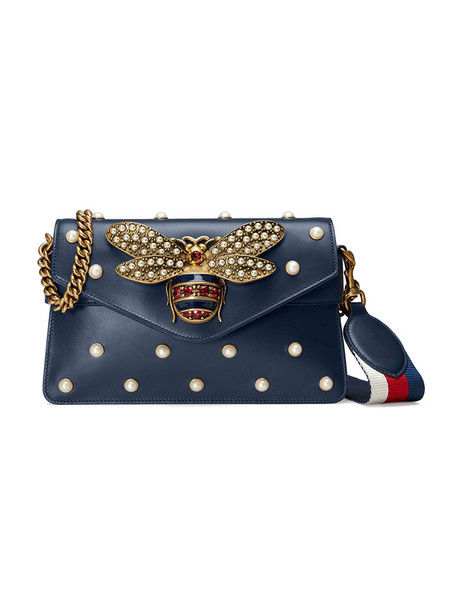 mini metal women bag mini bag leather blue silk