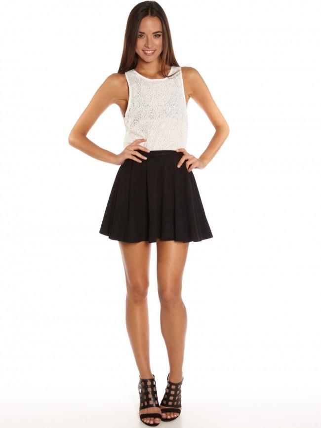 Black ponte skater skirt