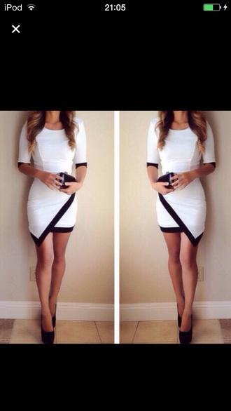 dress black and white cute helpmefind