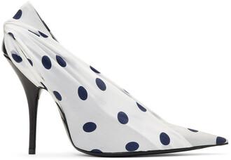heels polka dots navy white shoes
