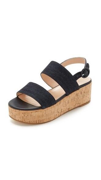 denim sandals wedge sandals shoes