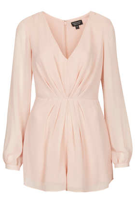Pleat Front Playsuit - New In This Week - New In - Topshop