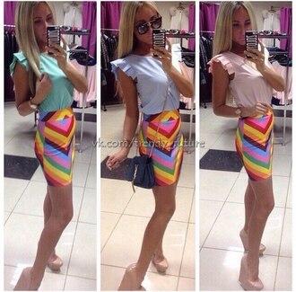 skirt mini skirt colorful colorful skirt colorful skirts summer skirt