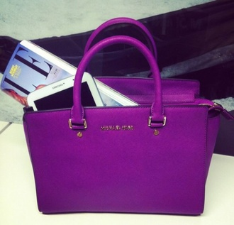 bag michael kors tote bag purple tote
