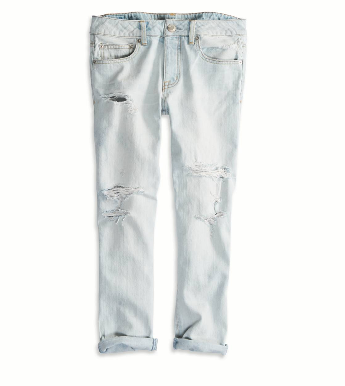 Boy Jean Crop Light Destroy Wash | American Eagle Outfitters