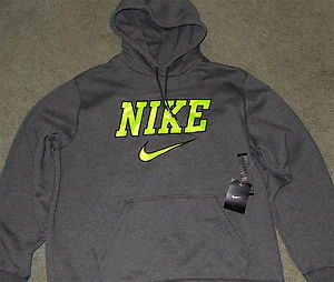 Mens Nike XL Dark Gray Neon Black Pullover Hoodie Sweatshirt XL | eBay