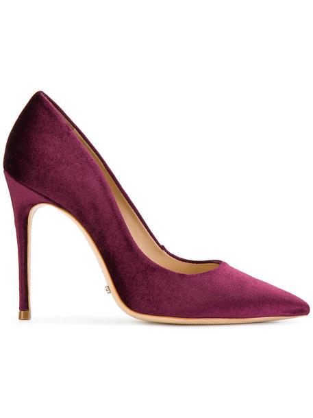 Schutz pointed toe pumps women pumps leather velvet red shoes