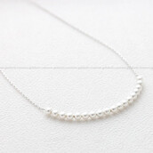 jewels,jewelry,necklace,pearl,pearl necklace,sterling silver necklace