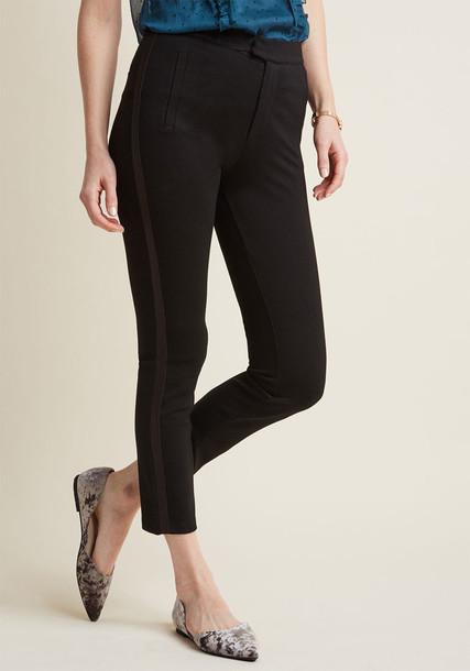 MCB1310 pants stripes leather black