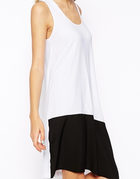 ASOS | ASOS Swing Dress With Contrast Woven Hem at ASOS