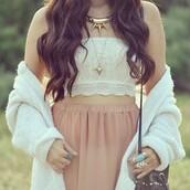 sweater,cardigan,rubi,white,soft,fluffy,skirt,shirt,tank top,lace,cute